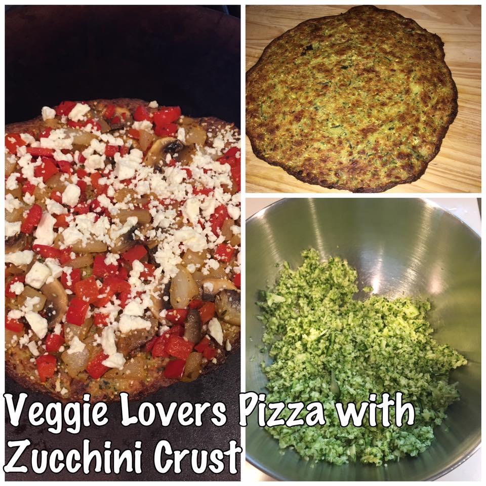 Weight Watchers Veggie Lovers Pizza with Zucchini Crust